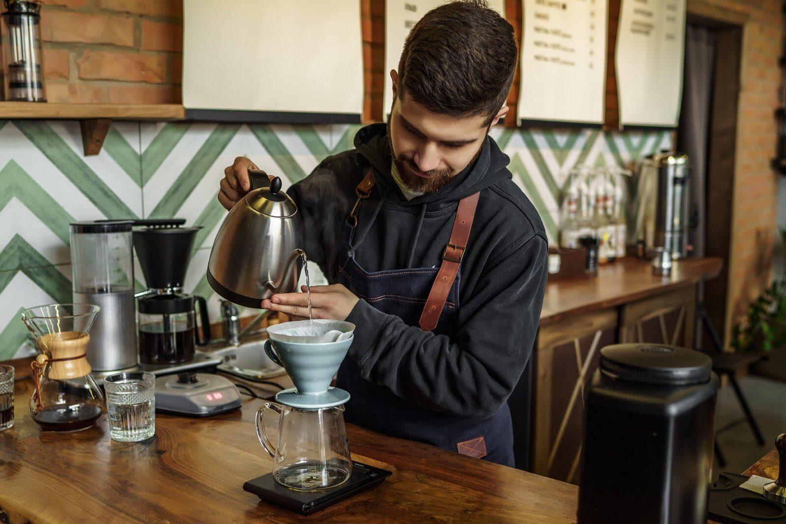 Barista in a coffee shop
