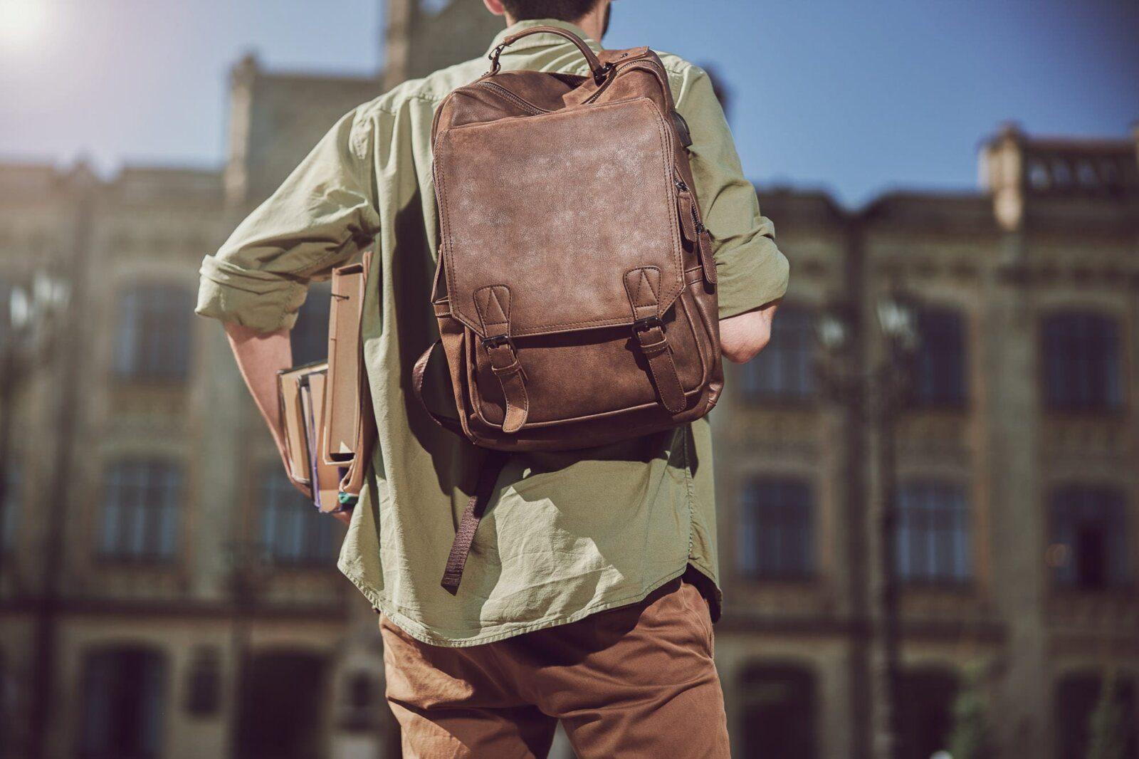 Man with racksack
