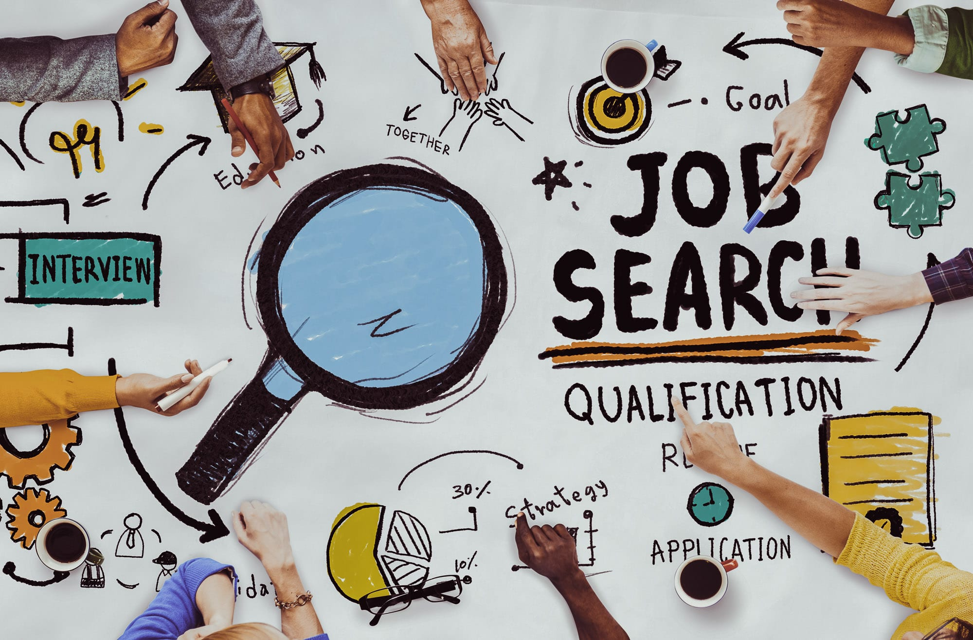 Student job search graphic